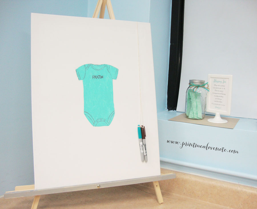 Baby-Onesy-Canvas-Guest-Book-